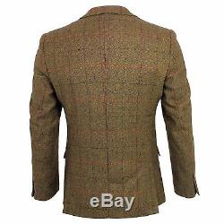 Mens Marc Darcy Designer Tweed Blazer Waistcoat Suit Slim Fit Dinner Jacket New