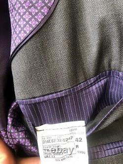 Mens Ted Baker Jay Trim Fit Solid Wool Suit 42R X W35 MSRP $798