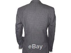 Mens Wool 3 Piece Vested Suit Rivelino Renoir English Plaid Slim Fit 514-1 Black