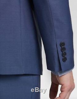 Mens size 38R Calvin Klein Blue Postman extreme slim fit suit NWT
