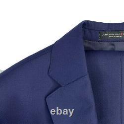 Mint! 38 S John Varvatos USA Royal Navy Blue Luxe Slim Fit Wool Suit RZ