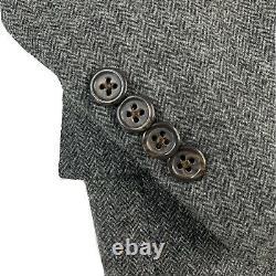 Mint! 42 L Polo Ralph Lauren Italy Grey Herringbone Tweed Slim Fit Suit