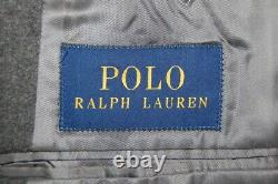 Mint! 44 R Polo Ralph Lauren Mid Grey Flannel Weight Wool Slim Fit Suit