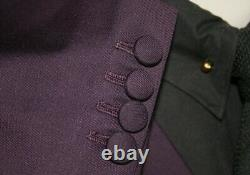 Mod Skinhead Suit Purple 3 Button Suit Slim Fit 2-1 pocket 1960's suiting retro