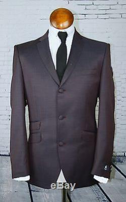 Mod suit Deep Red suit skinhead suit slim fitting 3 button suit retro mod suit