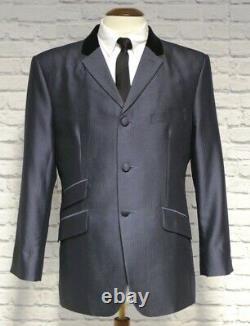 Mod suit, skinhead suit Charcoal tonic suit 3 button suit slim fit mod suit