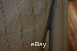 Mod suit, skinhead suit Green & Gold Two Tone suit 3 button suit slim fit