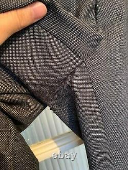 Moss Bros 3 Piece Skinny Fit Tailored Suit (Navy) 40R Chest 34R Waist RRP £369