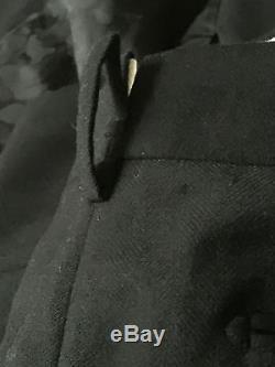 Mr. Bathing Ape 3-Piece Black Suit Slim fit 1st Camo lining Wool Cashmere New 48