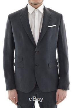 NEIL BARRETT New Man Gray Slim Fit Single Breasted Two Button Suit Size 48 ita