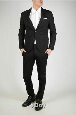 NEIL BARRETT men Formal Outfits Black Suit Single Breasted Slim Fit Size 48 I