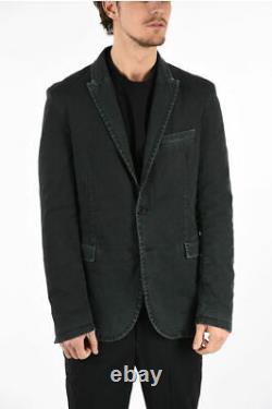 NEIL BARRETT men Suit Jackets Grey Single Breasted Blazer 48 IT Slim Fit Deni