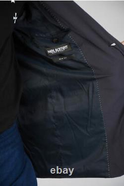 NEIL BARRETT men Suit Sz 48 IT Dark Navy Single Breasted Blazer Slim Fit 48