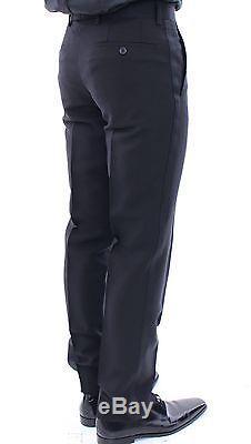 NEW $1600 EMPORIO ARMANI Black Slim Fit Wool Smoking Tuxedo Suit EU48 /US38 / M
