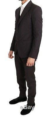 NEW $2200 DOLCE & GABBANA Suit Bordeaux Wool Slim Fit Two Button EU46 /US36/ S