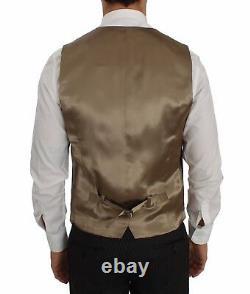 NEW $2400 DOLCE & GABBANA Suit 3 Piece Gray Wool Silk Stretch Slim Fit EU46/US36