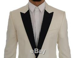 NEW $2400 DOLCE & GABBANA Suit MARTINI Slim Fit White Smoking Tuxedo EU48/US38/M