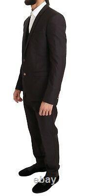 NEW $2400 DOLCE & GABBANA Suit Purple Wool Silk Slim Fit Two Button EU48 /US38/M