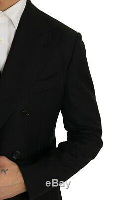 NEW $2500 DOLCE & GABBANA Suit Wool Black Double Breasted Slim Fit s IT48 / US38