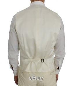 NEW $2800 DOLCE & GABBANA Suit 3 Piece Cream White Wool Silk Slim Fit EU50 /US40