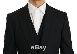 NEW $2800 DOLCE & GABBANA Suit Blue Wool SICILIA Slim Fit 3 Piece IT48 / US38