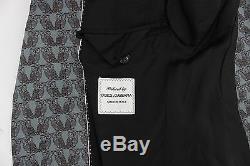 NEW $3200 DOLCE & GABBANA Blue Wool Owl Print Slim Fit 3 Piece Suit EU54/US44/XL