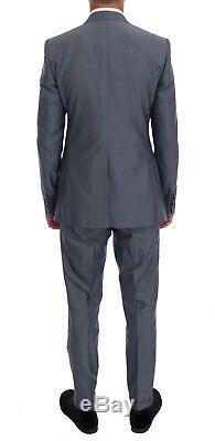 NEW $3200 DOLCE & GABBANA Suit 3 Piece Blue Slim fit MARTINI Wool Silk EU48/US38