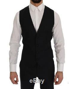 NEW $3200 DOLCE & GABBANA Suit Blue Wool Silk Slim Fit 3 Piece s. EU46/ US36 / S