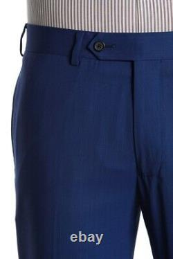 NEW Brooks Brothers BrooksCool'Milano Fit' Size 40R Solid Blue Two Button Suit