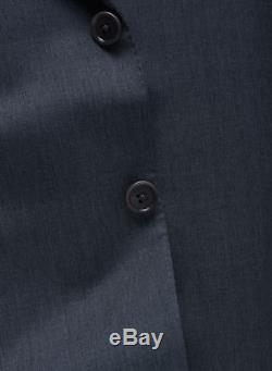 NEW! Charcoal Isaia 2 Button Slim-Fit Suit Lightweight 120s Wool 44 R/54IT $3895