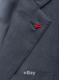 NEW! Dark Gray Isaia 2 Button SlimFit Suit Lightweight 130s Wool 40 R 50IT $4175
