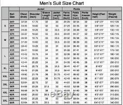 NEW Olive Green 3 Pieces Tweed Men's Suit Slim Fit Jacket 40 42 44 46 48+ Custom