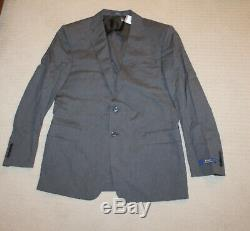 NEW Polo Ralph Lauren Custom Slim Fit Gray Stretch Cotton Spring Summer Suit 46R