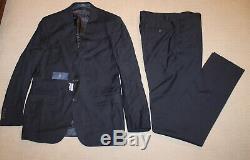 NEW Polo Ralph Lauren Custom Slim Fit Modern Blue Wool Suit 44R