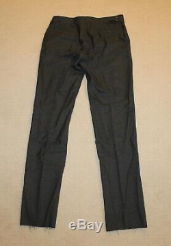 NEW Polo Ralph Lauren Custom Slim Fit Modern Charcoal Gray Plaid Wool Suit 44R