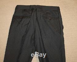 NEW Polo Ralph Lauren Custom Slim Fit Modern Dark Gray Stripe Wool Suit 40R