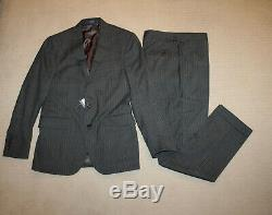 NEW Polo Ralph Lauren Custom Slim Fit Modern Gray Stripe Wool Suit 38R