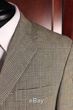 NEW Polo Ralph Lauren Linen/Wool Glen Check Suit Custom Fit Slim 40R Flat Front