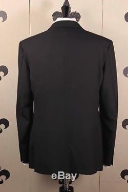 NEW Polo Ralph Lauren Peak Lapel Tuxedo Black Dinner Suit 40R Custom Slim Fit
