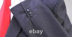 NIGEL CURTISS Bespoke Recent Gray Tone Check 2-Btn Slim Fit Peak Lapel Suit 42S