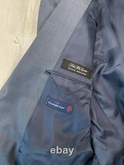 NWOT Ermenegildo Zegna for Saks Slim Fit Wool Suit 44 R (38 Pants) Blue
