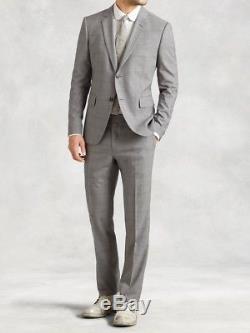 NWOT John Varvatos Austin Slim Fit Grey Wool Suit Made In Italy $1895 38R/48EU