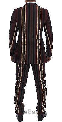NWT £10300 DOLCE & GABBANA Striped Runway 3 Piece Slim Fit Suit Vest IT48 / US38