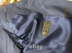 NWT $1195 JACK VICTOR LORO PIANA 130S SUIT 40R SLIM FIT YR ROUND made in canada