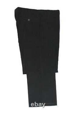 NWT $1295 Z ZEGNA Midnight Blue Corduroy 2 Piece Suit Slim Fit 44 R