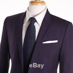 NWT $1395 PAUL SMITH'The Kensington' Royal Purple Wool Suit Slim-Fit 38 R