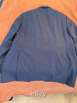 NWT $1445 Z ZEGNA Slim-Fit Drop 7 Solid Navy Blue Wool Suit 40R 50R 34 29 Pants