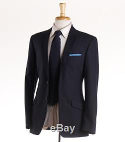 NWT $1495 PAUL SMITH'The Regent' Solid Navy Blue Wool Suit Slim-Fit 38 R