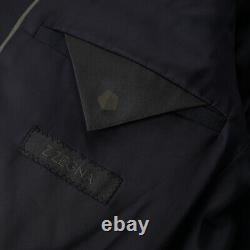 NWT $1495 Z ZEGNA Slim-Fit'Drop 8' Solid Navy Blue Wool Suit 40 R (Eu 50)