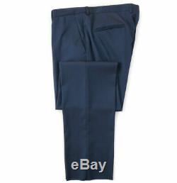 NWT $1595 Z ZEGNA Slim-Fit'Drop-8' Peacock Blue Sharkskin Wool Suit 42 R